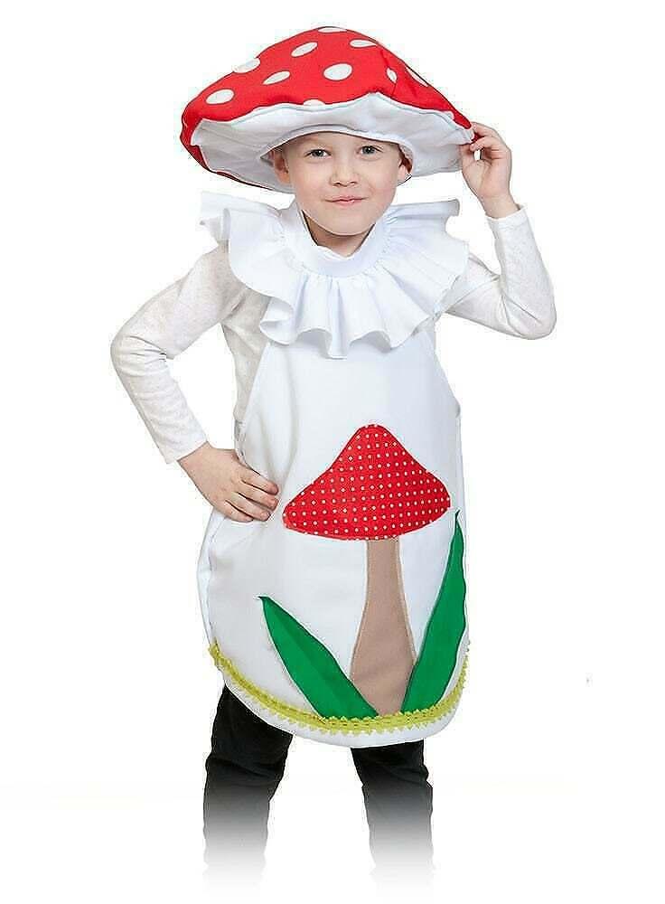 Детский костюм поганки своими руками