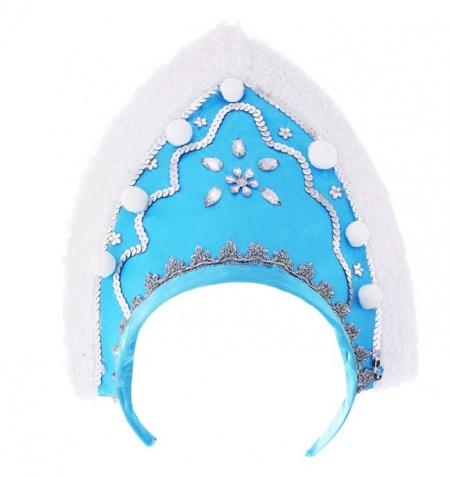 Кокошник Снегурочки голубой 1435 (thumb19327)